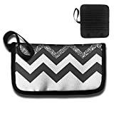 Thin Holder Credit Card Protector Black Wave Printed Organizer Business Women's Travel ID Card RFID Blocking