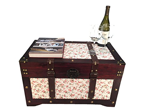 Savannah Chest Wooden Steamer Trunk - Medium Trunk - Savannah Storage Cocktail