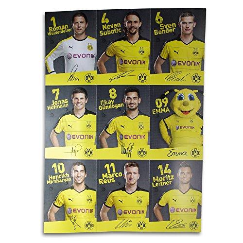 Borussia Dortmund Autogrammkarten / Sammelkarten / Autographs 36 Stück, Spieler, Trainer und Maskotschen BVB09