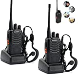 TTRwin 2pcs Walkie Talkie Radio BaoFeng BF-888S 5W Portable Ham CB Radio Two Way Handheld HF Transceiver Interphone bf-888s