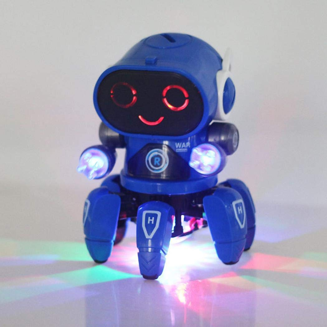 Detailorpin Children Dancing Robot 10-Color Light Music Six-Claw Fish Electronic Toy Gift by Detailorpin (Image #1)