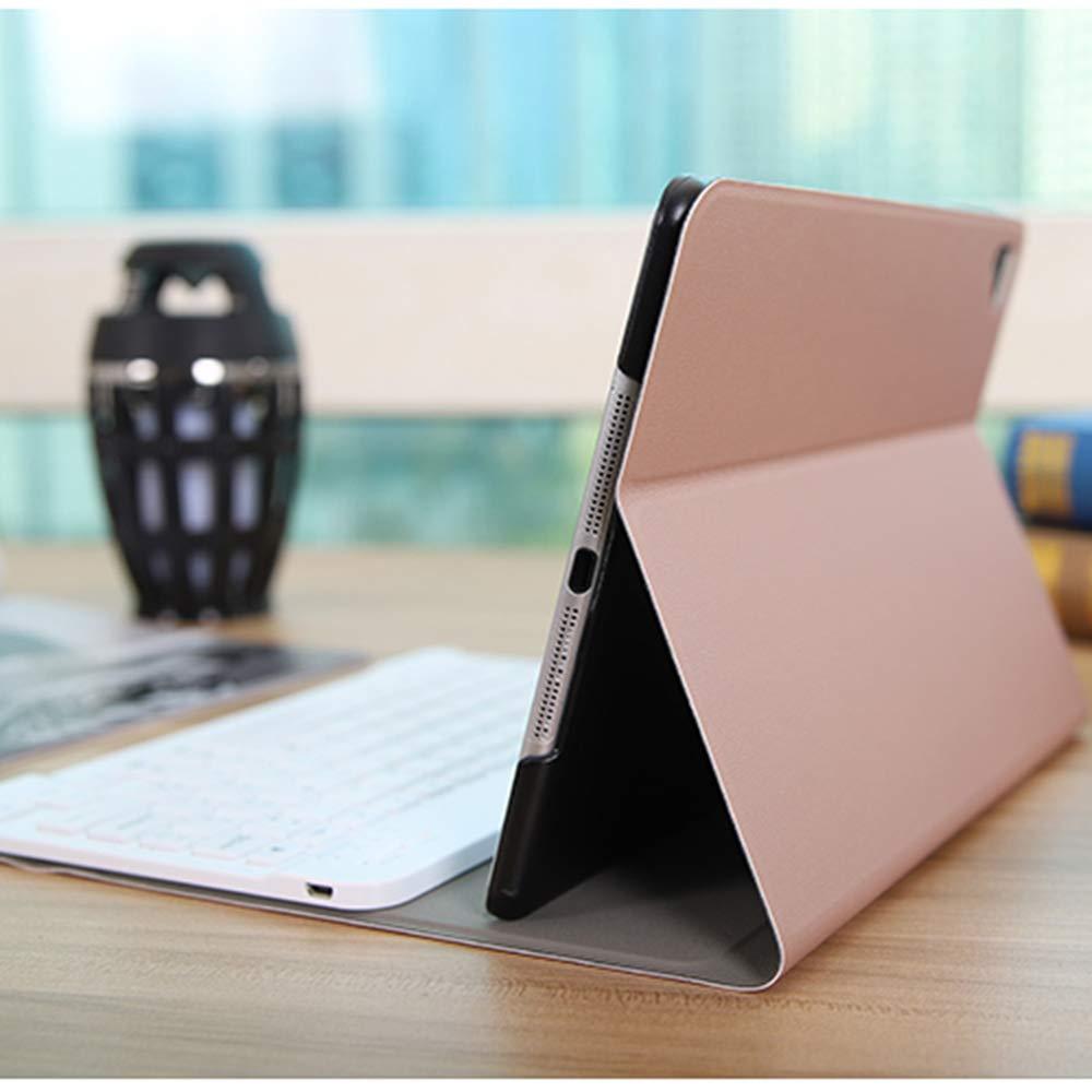 Soporta 3 Sistemas Inform/áticos Dise/ño espa/ñol Funda Ultra Delgado con Bluetooth Teclado Retroiluminado de 7 Colores para iPad 10.2 HAPPON Funda Teclado iPad 10.2 2019