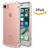 iPhone 6S Plus Case iPhone 6 Plus Case MortyMart Clear Cushion Shock-Absorbing TPU Flexible Shock-Absorption Bumper Anti-Scratch Clear For iPhone 6 Plus/6S Plus (2Pack iPhone 6/6S Plus clear case)