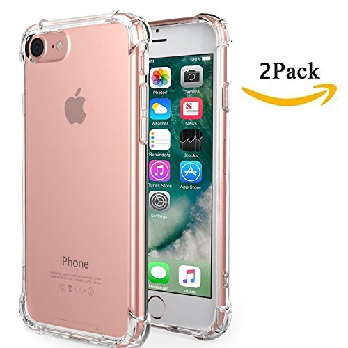 iPhone 6S Plus Case iPhone 6 Plus Case MortyMart Clear Cushion Shock-Absorbing (Flat Screen Collection Clock)
