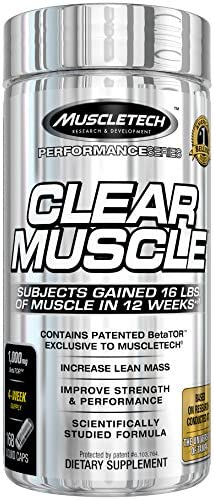 MuscleTech Clear Muscle Post Workout Recovery and Strength Builder, Amino Acid Muscle Recovery Supplement, 168 Count