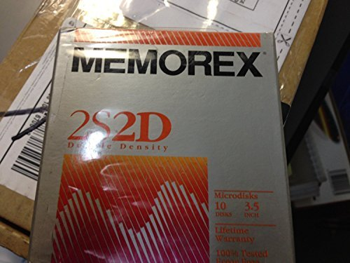 NEW Memorex 10 Floppy Disks 3.5'' Double Density 2S2D 3 1/2'' - Lifetime Warranty - MAC / Macintosh Formatted Diskettes Disc Microdisks by Memorex