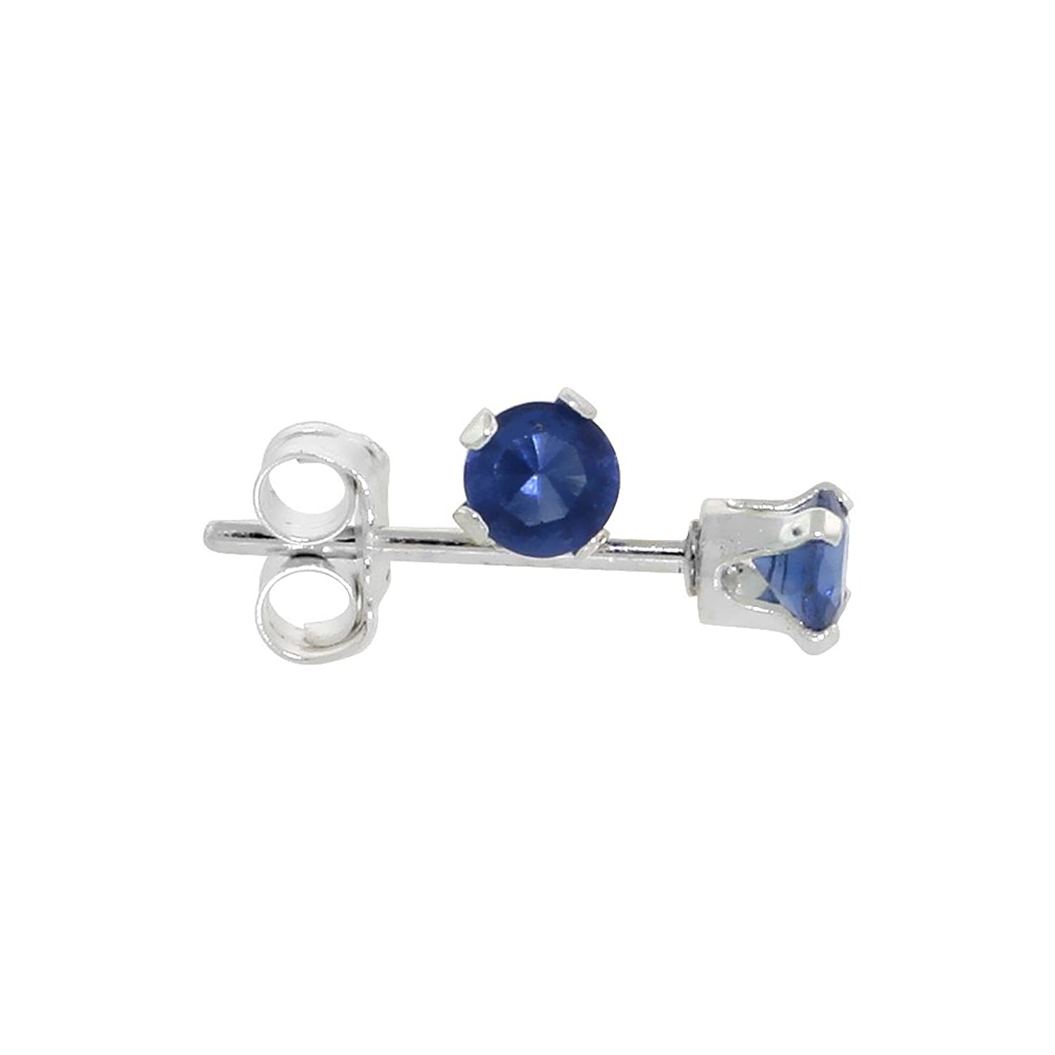 sls tone earrings stud silver sapphire cz half micropave jewelry two par mens square bling