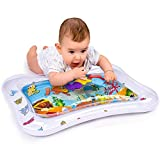Adorable Tummy Time Mat For Infants | Colorful & Fun Inflatable Baby Water Mat | Leakproof PVC Water Filled Playmat For Newborns | Engaging & Stimulating Vibrant Play Activity Center | Unisex Design