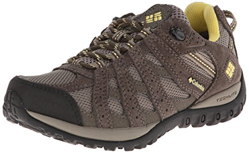 Columbia Women's Redmond Waterproof Trail Shoe, Pebble/Sunli