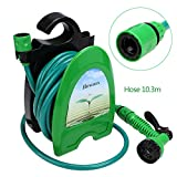Voluker Garden Hose Nozzle Spray Nozzle High Pressure with 34FT Expandable Water Tube - 8 Adjustable Watering Patterns - Pistol Grip Front Trigger - Hanged on the Wall or Placed on the Ground