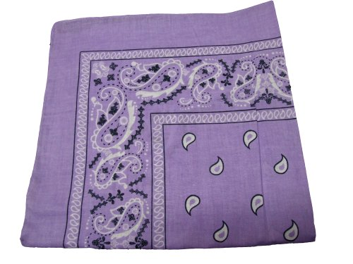 Paisley Cotton Bandana Purple