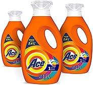 Ace Detergente Liquido Uno para Todo 3 Unidades de 1.2L, Total 3.6L