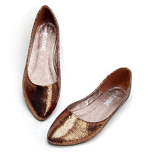 PU Comfortable Lady Brown Leather Lazutom Women Flats Loafer zxtwAA