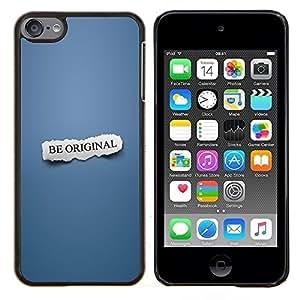 Qstar Arte & diseño plástico duro Fundas Cover Cubre Hard Case Cover para Apple iPod Touch 6 6th Touch6 (Ser original)