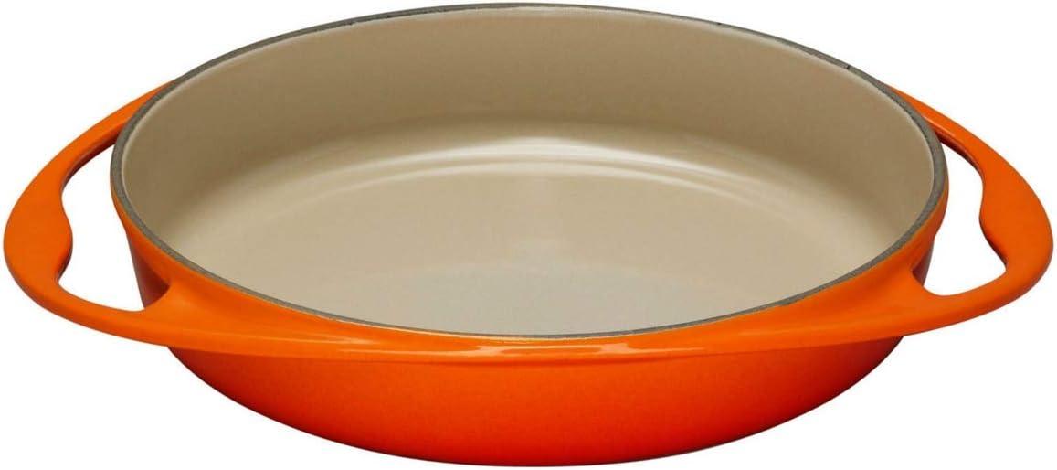 Le Creuset Bandeja tarta tatin de hierro fundido, Ovalada, diametro 25 cm, Apto para todas las fuentes de calor, incluso inducción, Volcánico