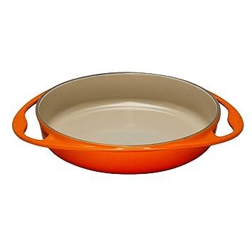 Le Creuset - Bandeja para tarta tatin de hierro colado esmaltado, 25 cm, color caldero: Amazon.es: Hogar