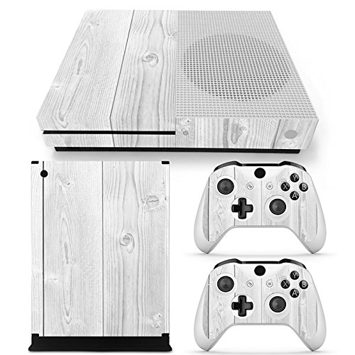 Gam3Gear Vinyl Decal Protective Skin Cover Sticker for Xbox One S Console & Controller - Wood v3