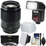 Fujifilm 90mm f/2 XF R LM WR Lens with Flash + 3 UV/CPL/ND8 Filters +...