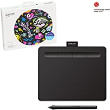 Wacom Intuos, Small Black art tablet, with free creative software download, Corel Painter Essentials or Corel Aftershot (CTL4100)
