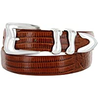 S5527 Oil Tanned Leather Ranger Belt With Engraved Antique Silver Buckle