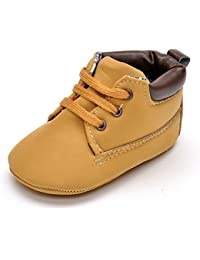 Infant Boys High-Top Sneaker Brown Baby Shoes