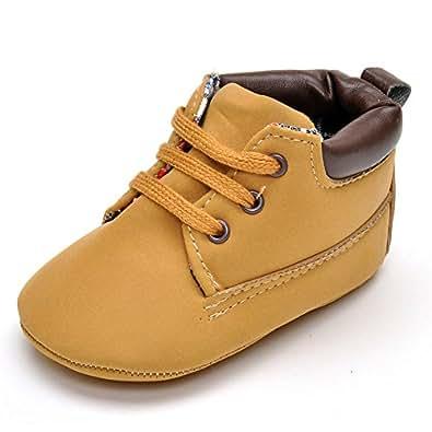 Amazon.com | Enteer Infant Boys High-top Sneaker Brown ...