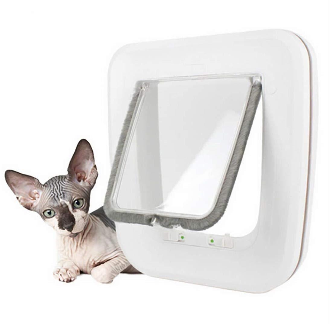 IF.HLMF 4 Ways Pet Gate Lockable Kitten Security Animals Dog Door Magnetic Pet Puppy