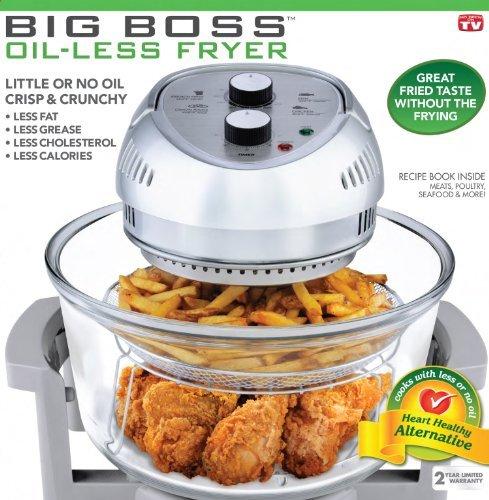 BIG BOSS 1300-Watt Oil-Less Fryer, 16-Quart by BIG BOSS Review
