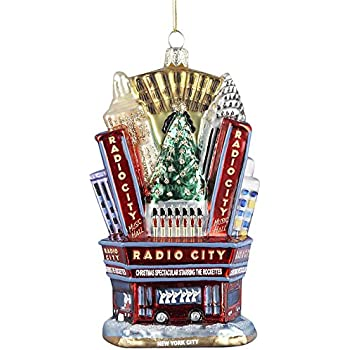 Kurt Adler Radio City Music Hall Glass Ornament, 5-Inch - Amazon.com: Kurt Adler Radio City Music Hall Glass Ornament, 5-Inch