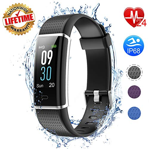 I-SWIM Fitness Tracker Color Screen, Heart Rate Monitor, Sleep Monitor, Step Counter, Calorie Counter, Smart Pedometer Watch, IP68 Waterproof Activity Tracker for Men Women Kids ()