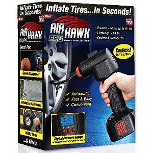 Amazon.com: Air Hawk Pro Cordless Tire Inflator AS SEEN ON TV