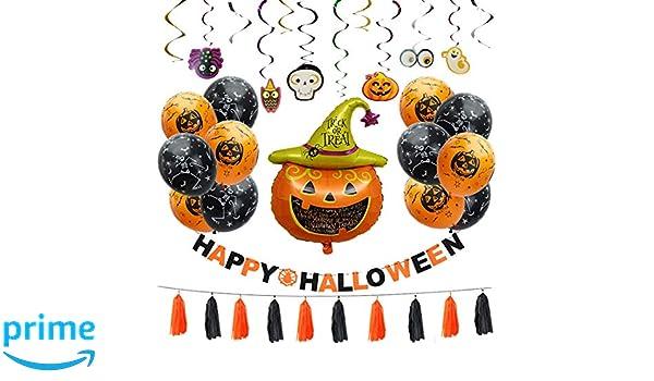 Amazon.com: Halloween Party Decorations Kit - Pumpkin Themed ...