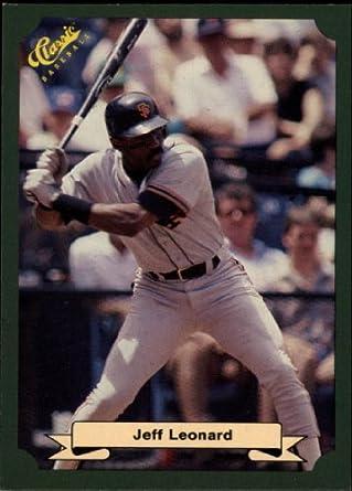 Amazoncom 1987 Classic Game Baseball Card 64 Jeff Leonard Near