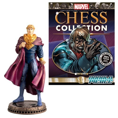 Marvel Donald Pierce Black Pawn Chess Piece with Collector Magazine
