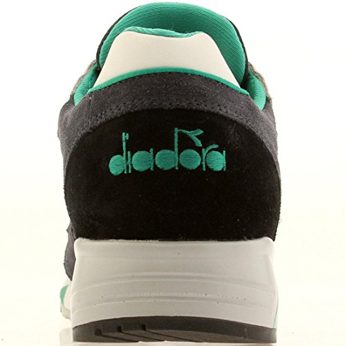 Diadora - Zapatillas de Piel para hombre Multicolor Gray, dark navy 39