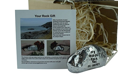 My Shining Rock For 21 Years - Solid Heavy Metal Twenty-First Anniversary Gift Idea by Pirantin