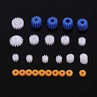 26PCS Juego mangas engranaje helicoidal husillo plástico, piezas