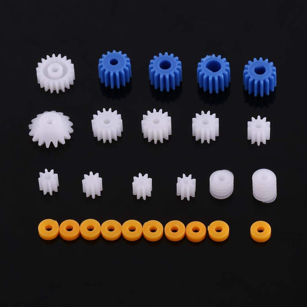26PCS Plastic Spindle Worm Gear Sleeve Set,Replacement Parts of Old Broken Gears for DIY Model Technology Production 2mm 2.3mm 3mm 3.17mm 4mm