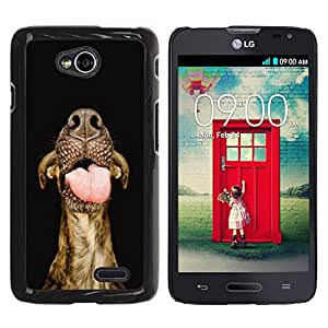 Vortex Accessory Hard Protective Case Skin Cover For Lg Optimus L70 ( Ls620 / D325 / Ms323 ) - Australian Cattle Dog Tongue Muzzle