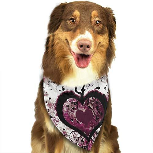 Address Verb Dog Bandana Pet Scarf Creative Heart Cute Triangle Bibs Baby Puppy Cat Kitten ()