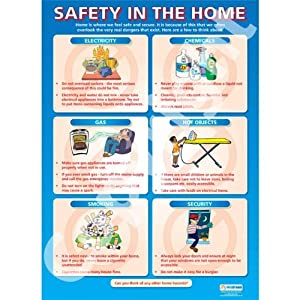 safety in the home pshe educational wall chart poster in high safety in the home pshe educational wall chart poster in high gloss paper a1 840mm x 584mm