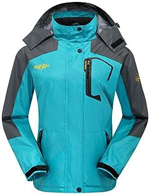 Wantdo Women's Outdoor Sports Hooded Windproof Waterproof Rain Jacket
