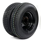 13'' Trailer Wheel & Tire 175/80D13 LRC ET Bias Trailer Tires 5 Hole Black Steel Ring (Pack of 2)