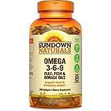 Sundown Naturals Triple Omega 3-6-9, 200 Softgels