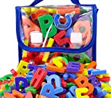 EduKid Toys 72 Magnetic Letters & Numbers (Tote) 1.25' - 1.75' (72 ABC Alphabet Magnet Letter)
