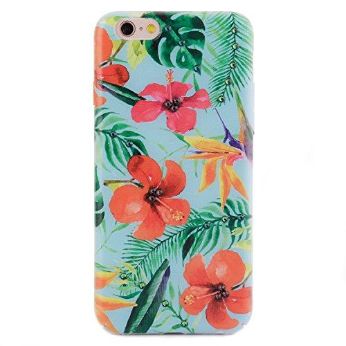 iPhone 6 6s Case, Arktis Luxus Hardcase mit Swarowski Steinen Caribbean