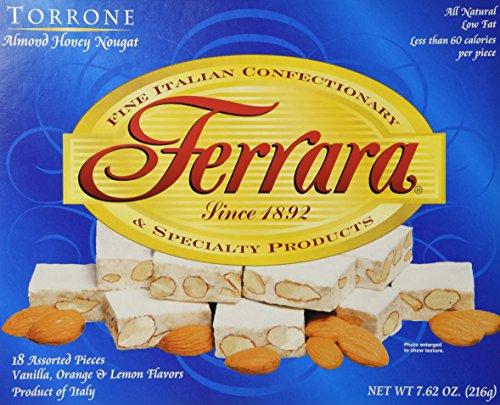 Ferrara - Italian Torrone 18 pc. (Almond Honey Nougat Candy), (Pack of 2)- 7.62 oz. Boxes