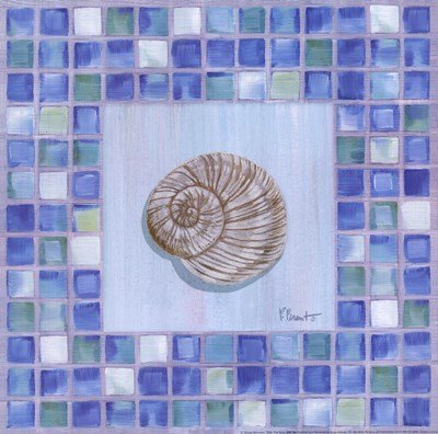 Mosaic Moonshell by Paul Brent - 12x12 Inches - Art Print Poster