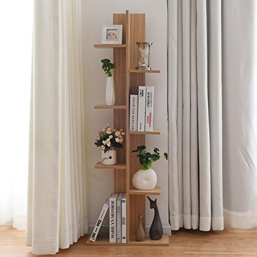 Cheap  Giantex Open Concept Bookcase Flower Pot Display Shelf Rack Wooden Storage Holder..
