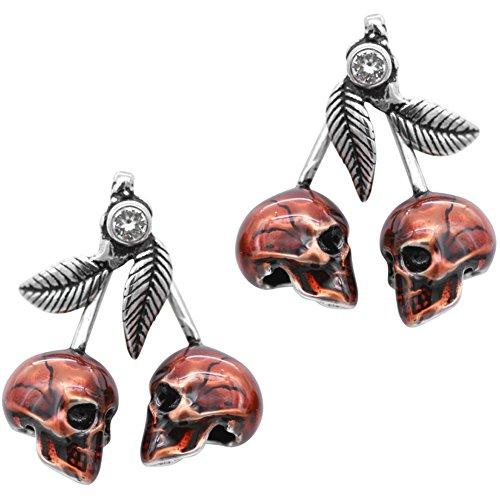 Controse Jewelry Cherry Skulls Earrings